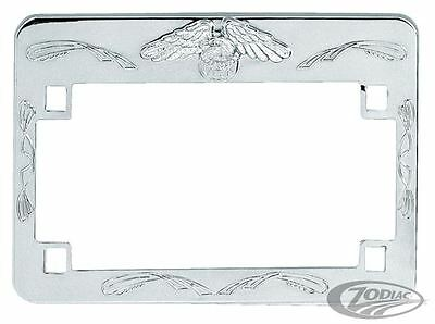 Zodiac Deluxe Chrome Harley Davidson Motorcycle Licence Plate Frame BC15990 T