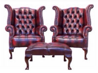 **WANTED** CHESTERFIELDS Any condition!! Leather £££ footstools club chairs wingback sofas