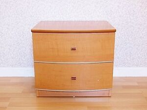 Bedside Table / Chest of Drawers - Beech Finish