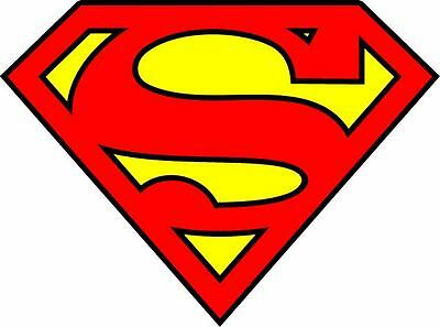 Diecut Vinyl SuperMan LOGO Decal Sticker Comic Colored BatMan Marvel Buy2Get1Fre](Superman Logo Stickers)