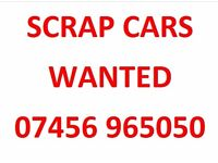 SCRAP CARS WANTED - CASH PAID - ANY CONDITION - MOT FAILURES - ACCIDENT DAMAGED - YORKSHIRE AREA