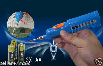 Cordless 3xaa Battery Soldering Iron Pen Tool Solder Hobbies Electrical Computer
