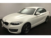BMW 218d sport Coupe 2016 White FROM £88 PER WEEK!