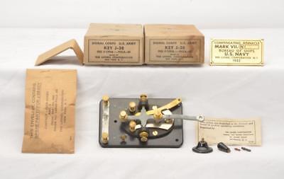 Lionel Prewar Signal Corp U S Army Key J 38 And Brass Binnacle Plaque Lot 2319