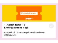 ONE MONTH NOW TV ENTERTAINMENT PASS