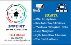Security/CCTV Camera, Home Automations, Home Theater, TV Setup