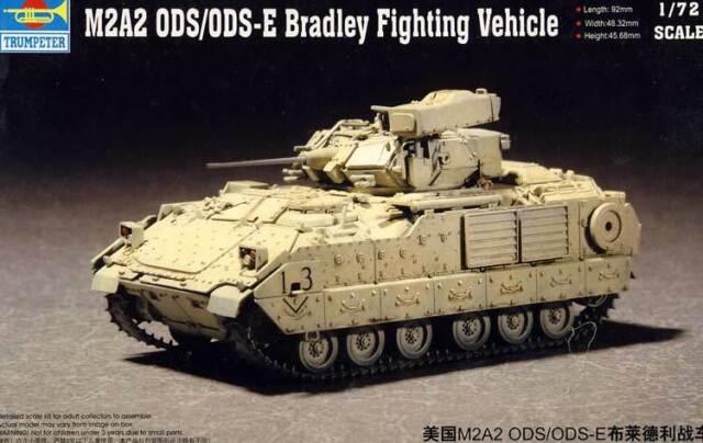 Trumpeter M2A2 ODS/ODS-E Bradley Fighting Vehicle Panzer Modell-Bausatz 1:72 kit