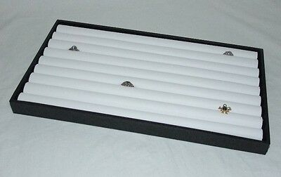 8 Row Ring Display Tray With White Insert For 110 Rings