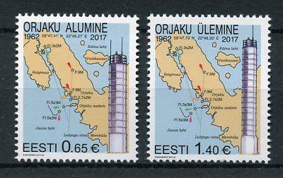 Estonia 2017 MNH Orjaku Leading Light Lighthouses 2v Set Architecture Stamps