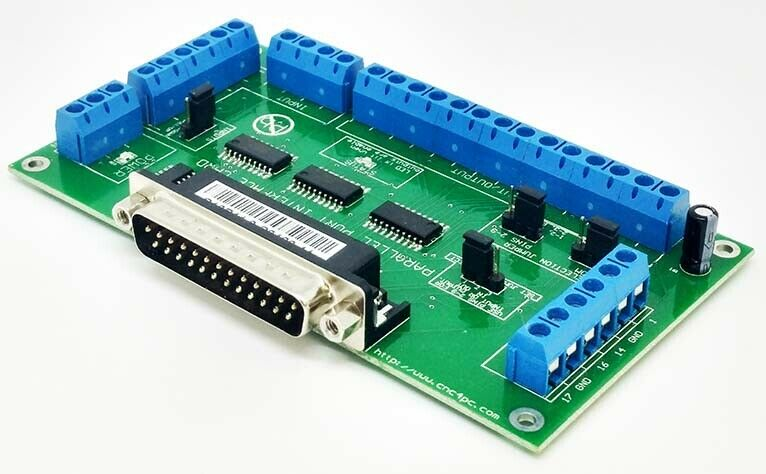 C10 -  BI-Directional Parallel Port CNC Breakout  Board