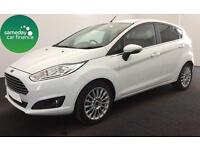 ONLY £183.31 PER MONTH WHITE 2014 FORD FIESTA 1.5 TITANIUM 5 DR DIESEL MANUAL