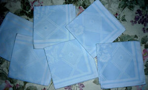 6 Tiffany Blue color ... cotton Napkins ... NEW