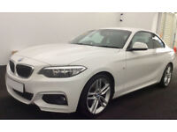 White BMW 220d M Sport Coupe 190bhp 2014 FROM £72 PER WEEK!