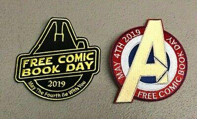 2x FREE COMIC BOOK DAY 2019 PATCH; AVENGERS STAR WARS MILLENNIUM FALCON - Avengers 2 Falcon