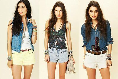 Cord Cut Off Short ($68 Free People Corduroy Cut Offs With Zipper Pockets Cord Shorts NEW F340)
