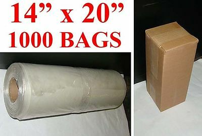 14 X 20 Long Poly Bag Roll 2mil 1000 Bags On A Roll 3 Core Free Shipping