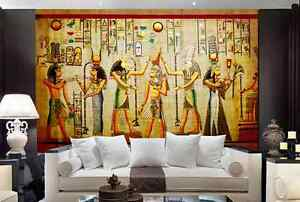 Mega 3d ancient egyptian murals wall paper wall print for Egyptian wallpaper mural