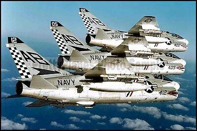 USN Vought A-7 Corsair VA-72 USS John F Kennedy 1975 8x12 Aircraft Plane Photos