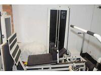 Leg press and bench press