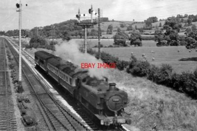 PHOTO  GWR 94XX NO 9441 1951 NEAR STANDISH JUNCTION GLOUCESTER - CHALFORD LOCAL
