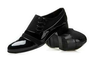 mens black dress energetic wedding shoes lace up oxfords