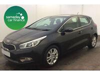 ONLY £165.72 PER MONTH GREY 2013 KIA CEE D 1.6 CRDI 2 5 DOOR DIESEL AUTOMATIC