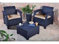 * NEW still in the box * Keter CORFU balcony outdoor garden rattan furniture set - RRP 179