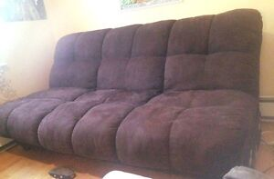 Plush futon in excellent condition - MUST GO BY APRIL 25TH