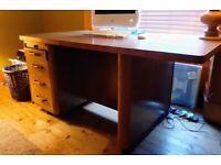 Art Deco oak writing desk