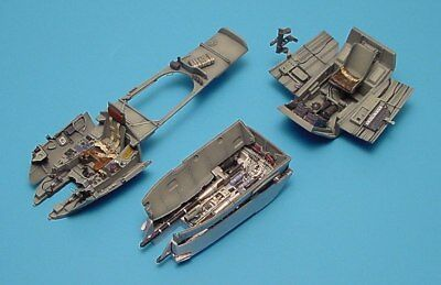 Aires 1/48 Messerschmitt Me410A Cockpit Set and Gun Bay for Monogram kit 4159