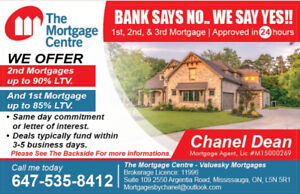 2nd Mortgages Up To 90% LTV Call Me Today (647)535-8412