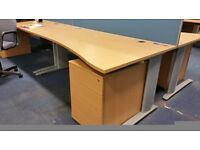 Waved office desks many available £ 35 each