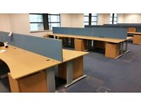 Wave desks in oak finish 1800mm x 800mm x 1000mm in excellent condition only £ 35 each
