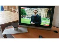 """28"""" Philips HD ready tv with stand and remote"""