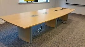 Large Boardroom table with fitted power points only £ 250