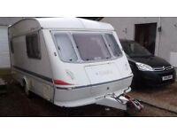 Caravan for sale, Elddis Mistral 200 ex, 1992, 13ft, 2 berth, motormover, new alko stabliser, £820.