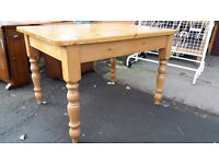 Pine farmhouse style dining table