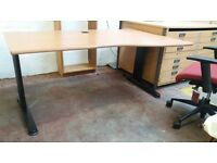 Office desk with dedicated power supply