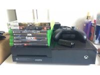 Xbox one 500gb & games