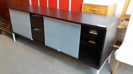 Large TV unit with glass fronted doors