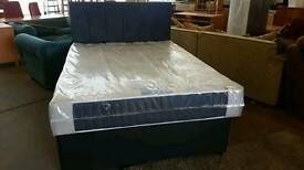 Double bed base with memory foam mattress