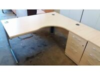 Large corner office desks wit fitted pedestal lots available £ 45 each