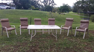 Outdoor 6 seater Dining Set Branxton Singleton Area Preview
