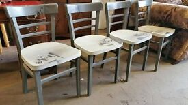 Set of 4 upcycled chairs £40 the set