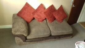 2 Seater Fabric Sofa Good order Fast Delivery Service Available