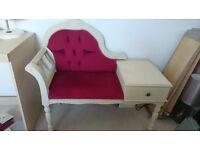 Vintage dressing / telephone table / vanity unit