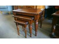 Beautifully carved style nesting tables