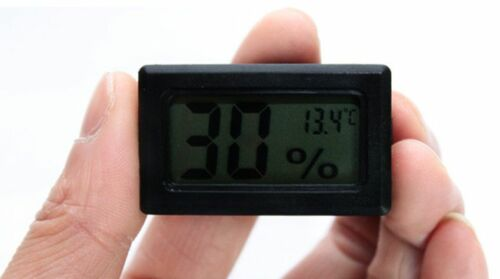 BLK Digital LCD Thermometer Hygrometer Humidity Temperature Meter Indoor+Battery