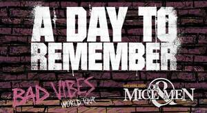 1x A DAY TO REMEMBER (MELBOURNE) FLOOR STANDING Brunswick West Moreland Area Preview