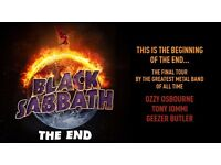 2 Seated Tickets Black Sabbath 22nd January The Final Tour Manchester Arena Face Value